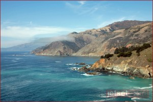The California coastline just outside of Big Sur