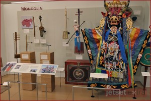 Traditional Costume and instruments of Mongolia at Musical Instrument Museum
