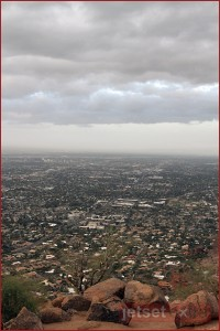 Greater Phoenix Valley from atop Camelback Mountain