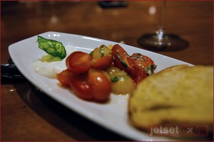 Burrata cheese, heirloom tomatoes and crostini