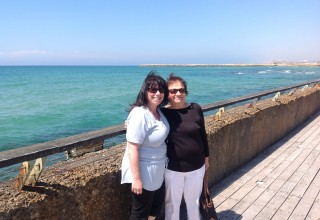 Mom and me in Tel Aviv