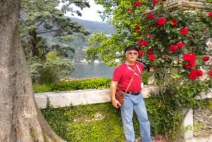 Hal enjoys the beautifully landscaped gardens of the Borromeo palace on Isola Bella.
