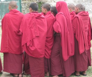 Monks in Trongsa