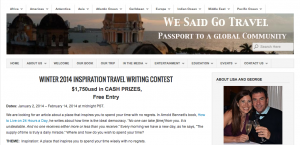 Inspiration Travel Contest