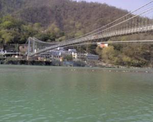 Ram Jhoola above River Ganga in Rishikesh
