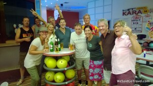 Bowling in Chewang, Koh Samui, Thailand for Chinese New Year