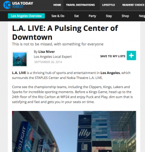 LA Live USA Today