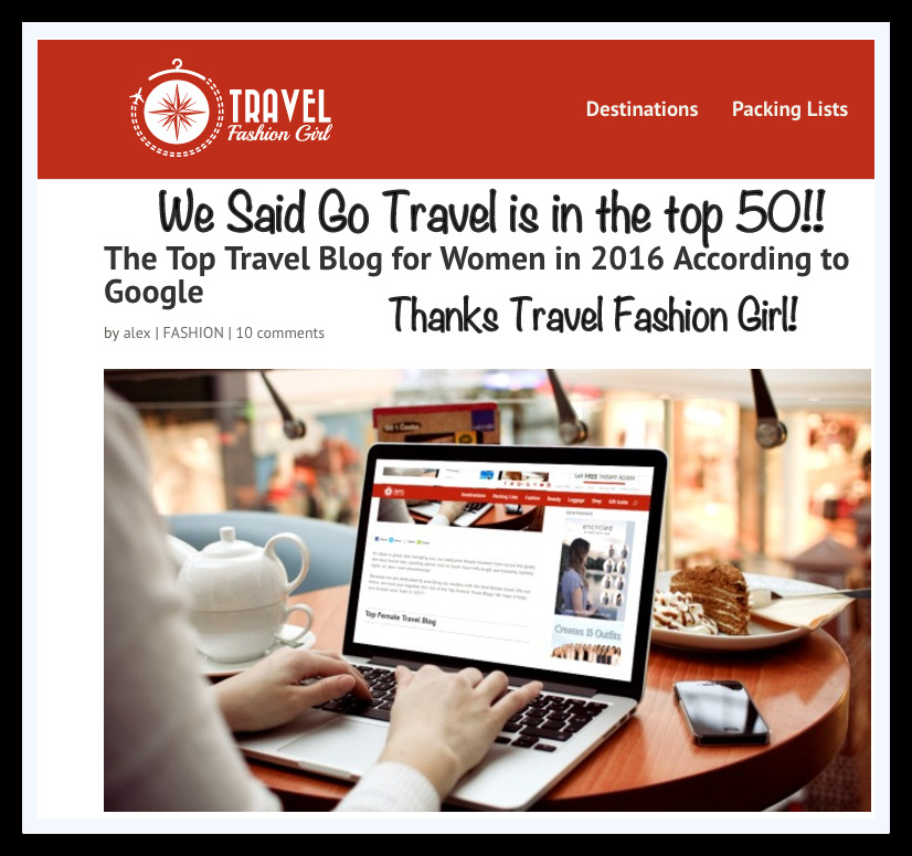 Who is in the Top 50 Travel Blogs for Women?