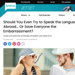 Should you try to Speak the Local Language?