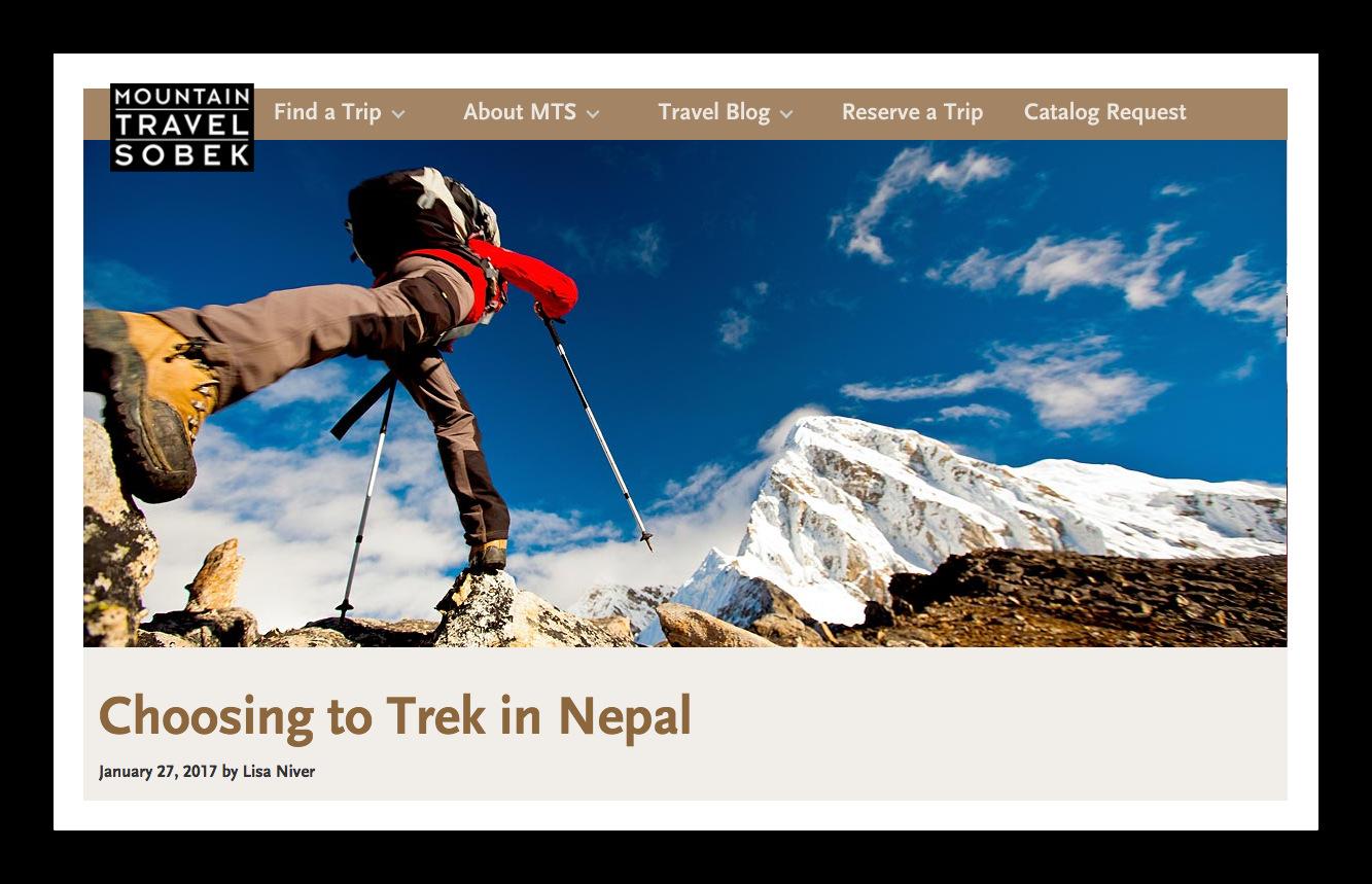 Why did I choose to trek in Nepal?