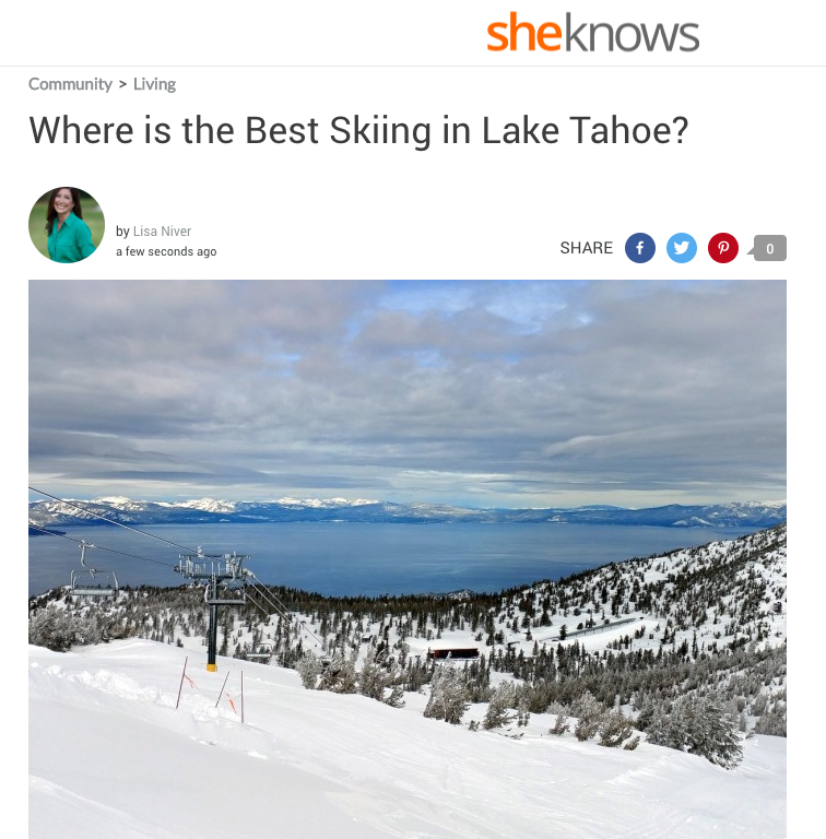 Where is the best skiing in Lake Tahoe?