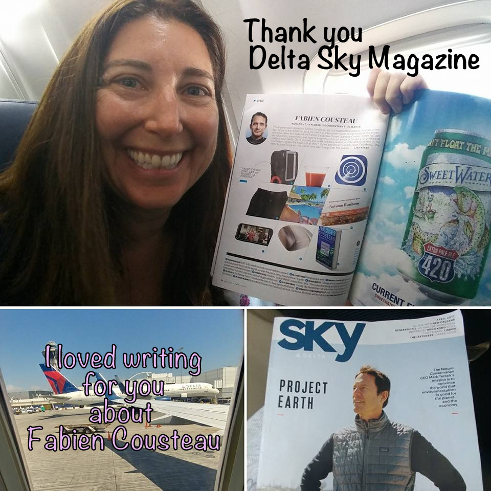 I loved writing for Delta Sky Magazine about Fabien Cousteau!
