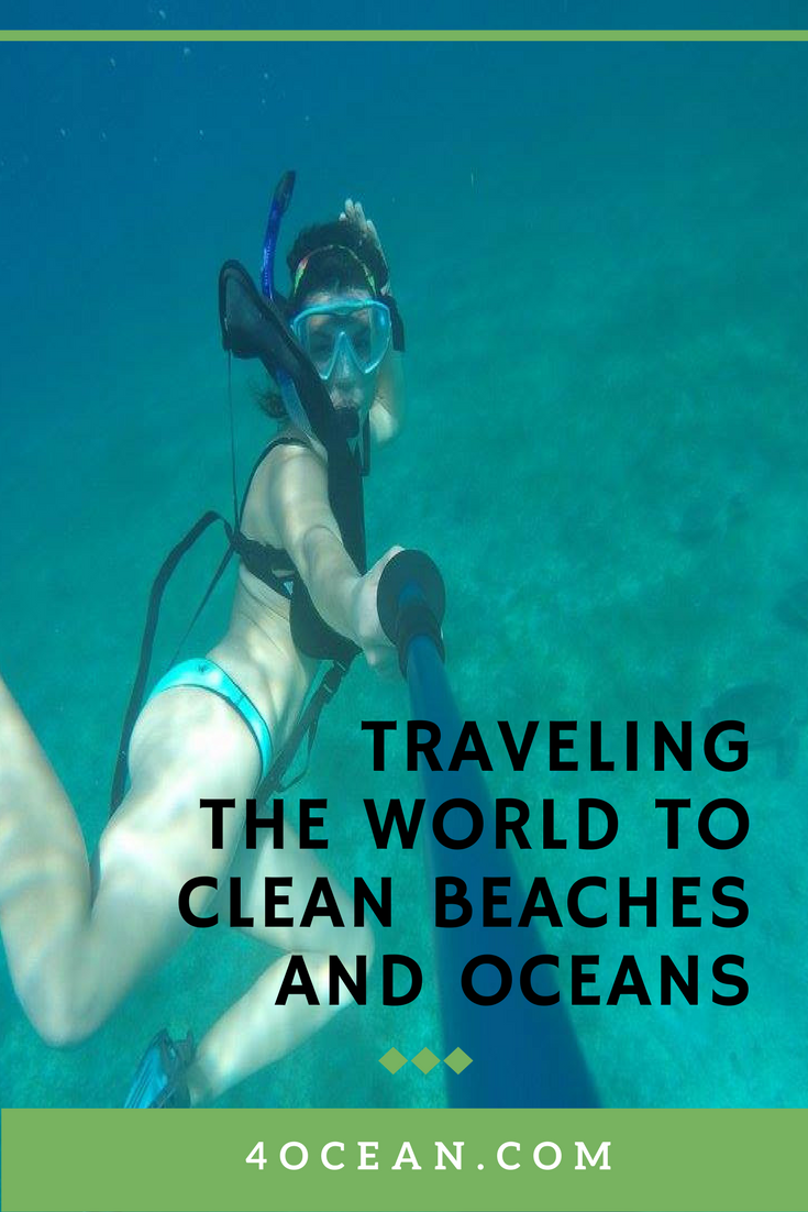 Traveling the world to clean beaches and water - 4Ocean