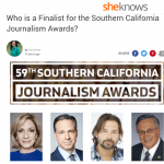 Lisa is a finalist for the Southern California Journalism Awards