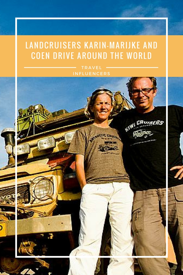 Landcruisers Karin-Marijke and Coen drive around the world