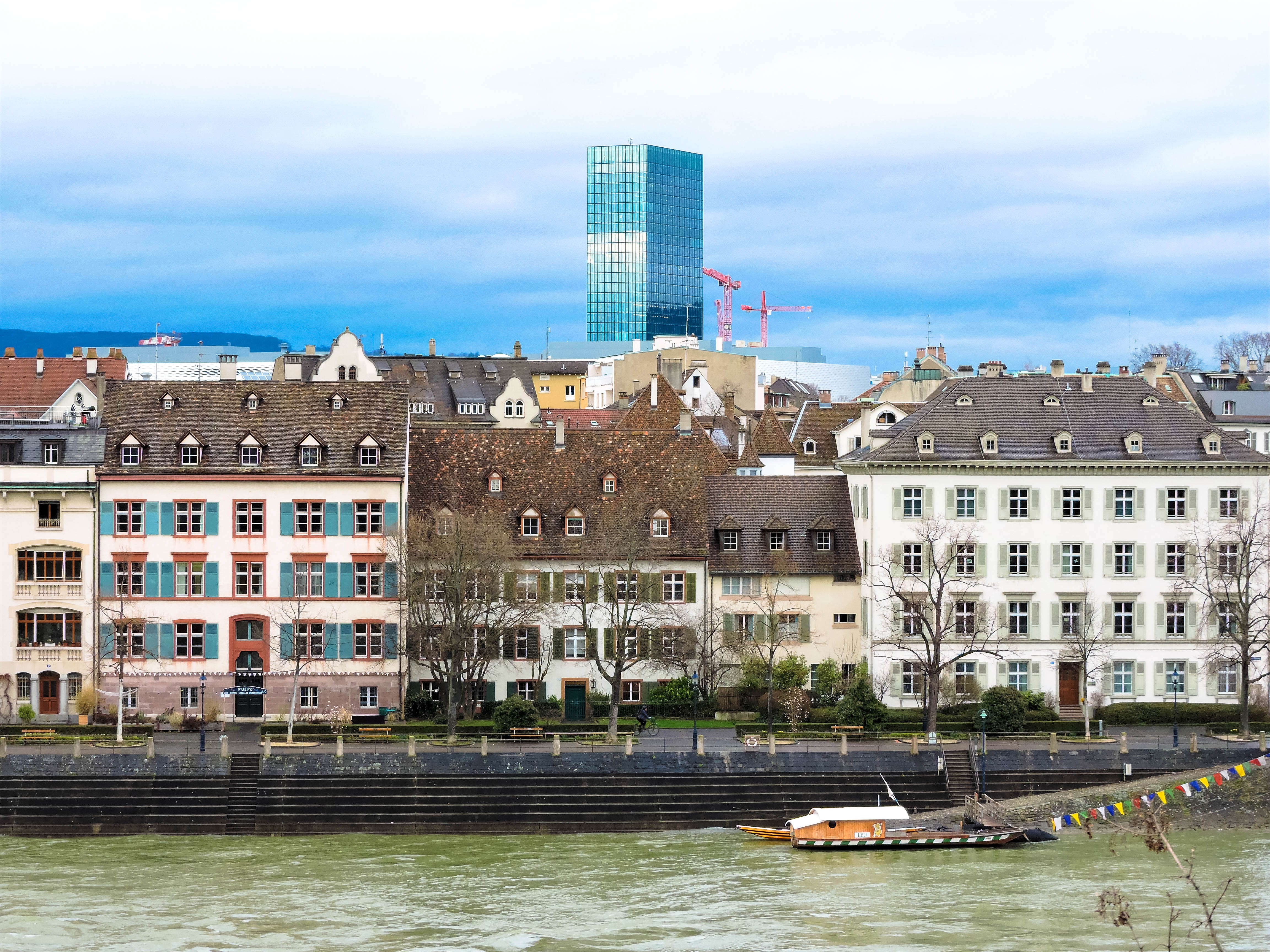 The Old and New Basel in Switzerland