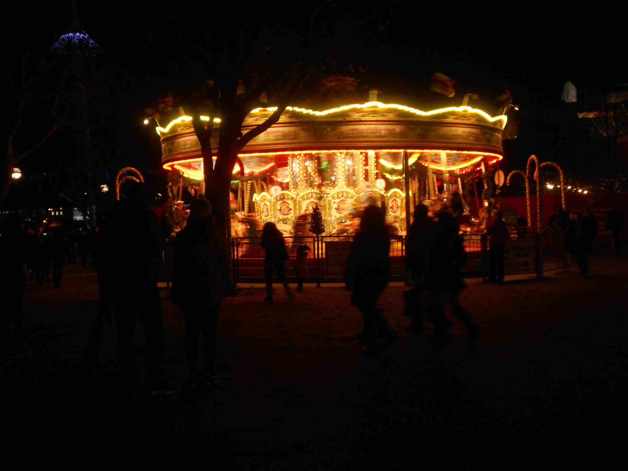 Carousel at Night in the UK