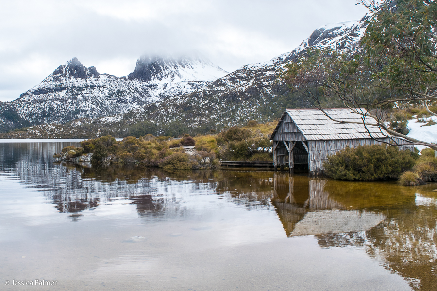 Dove Lake Boat Shed in Australia