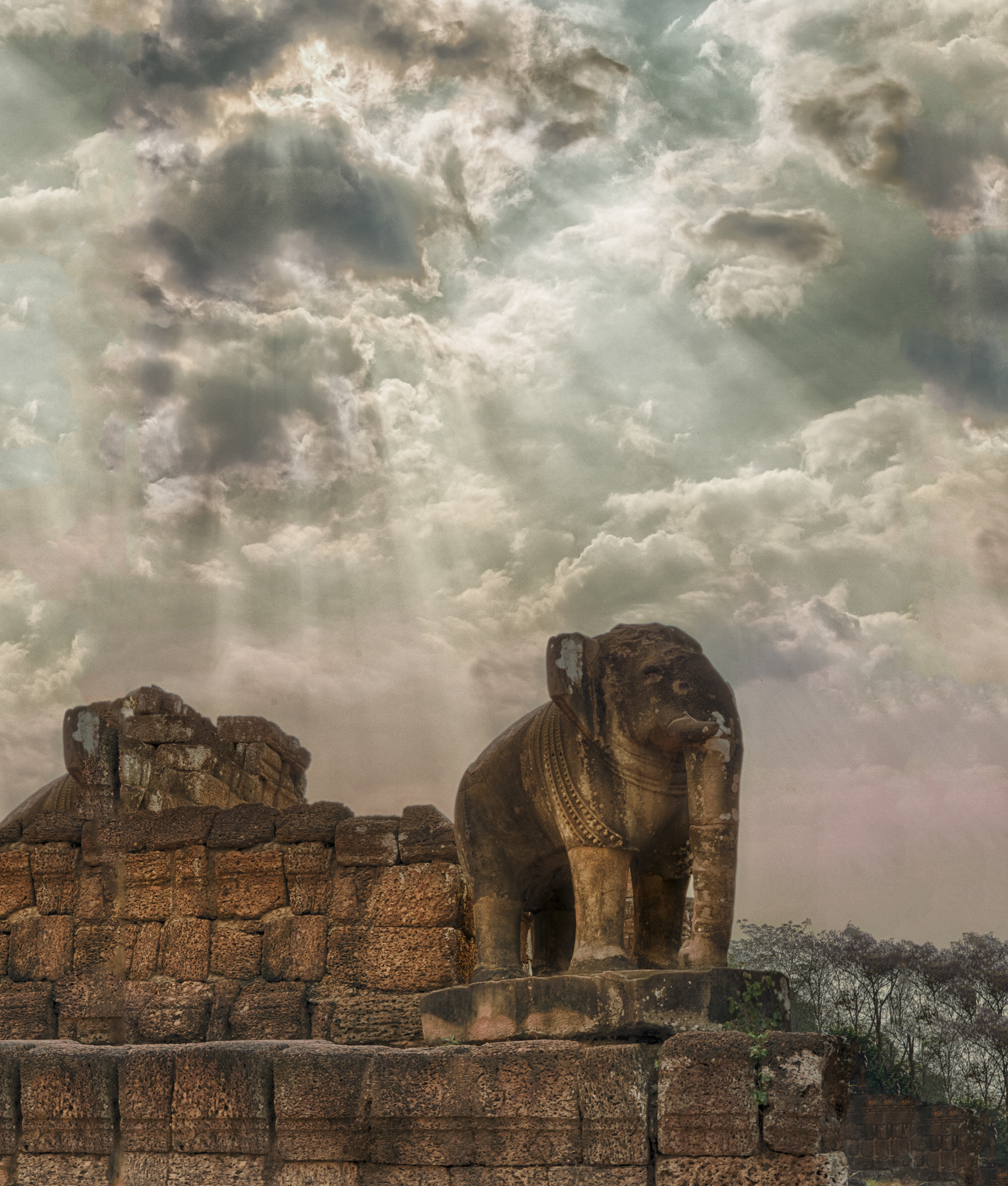 Elephant Statue – East Mebon, Angkor, Cambodia