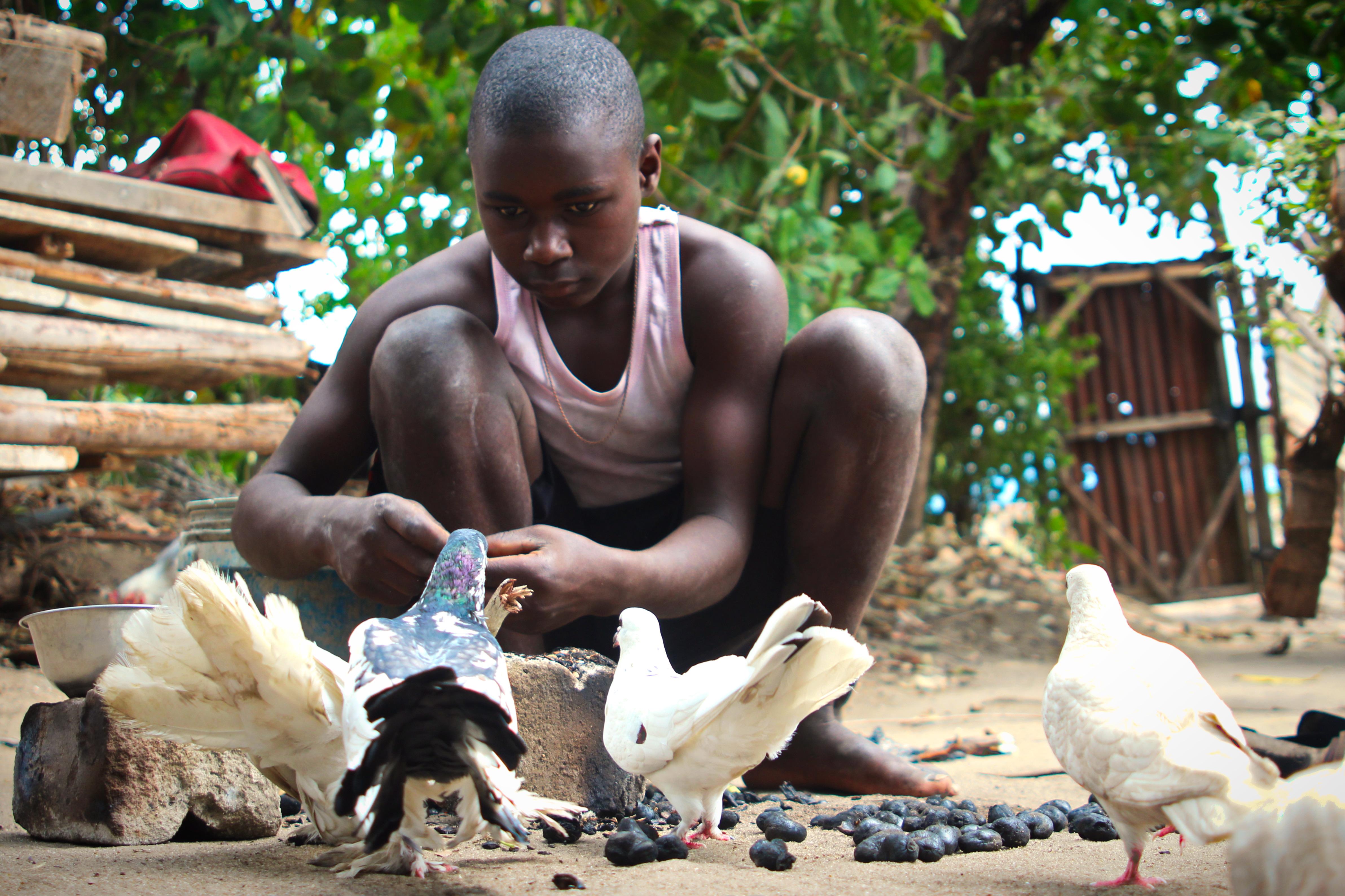 Cracking Cashew Nuts in Tanzania