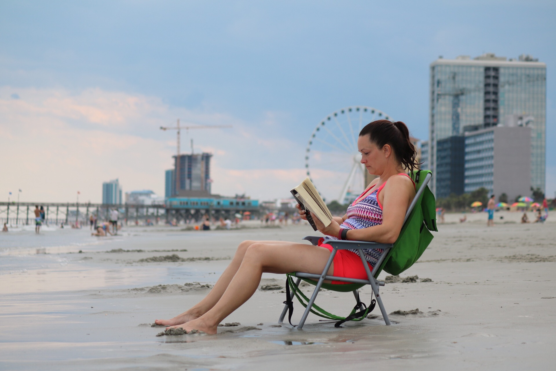 Reading by the Seaside at Myrtle Beach