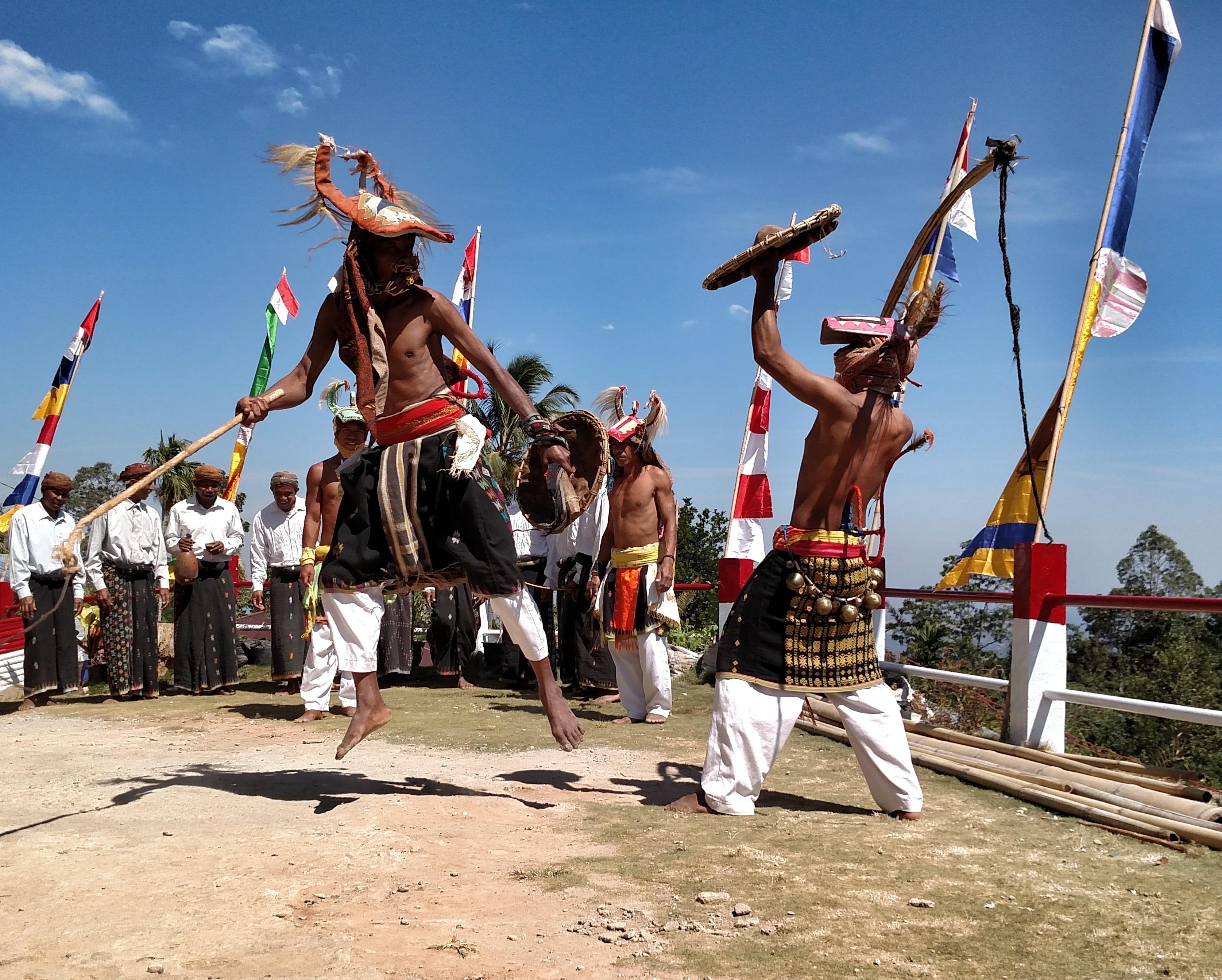 Caci Village Dance in Indonesia