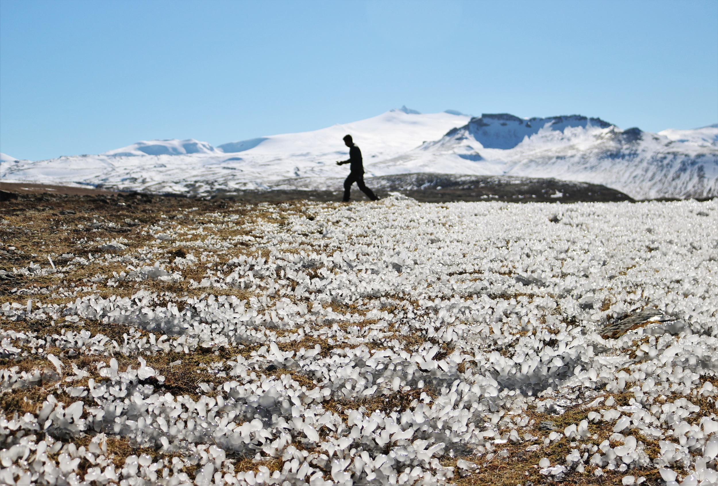 Walking on Crystals in Iceland