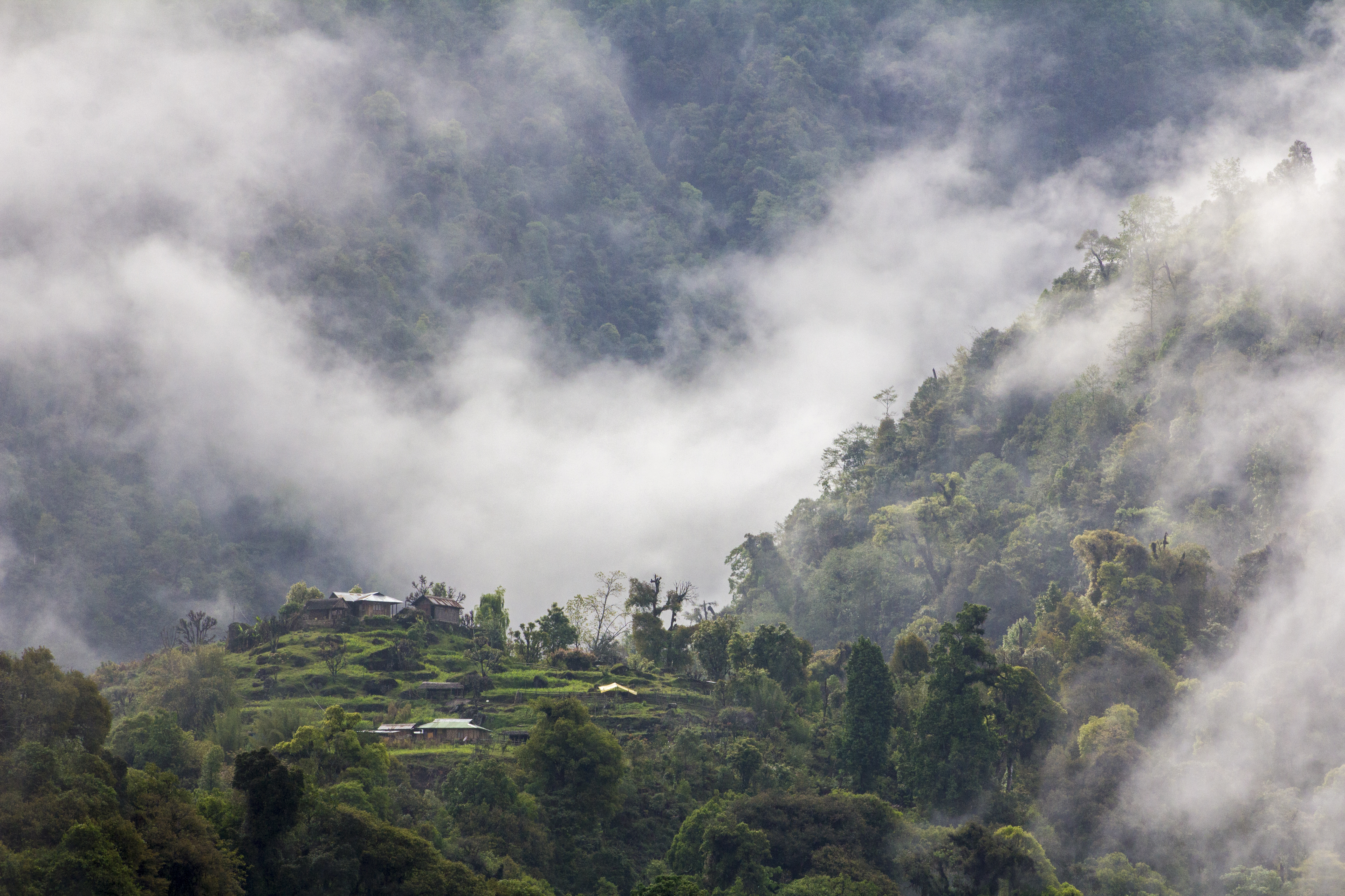 The Village Amidst the Clouds in India