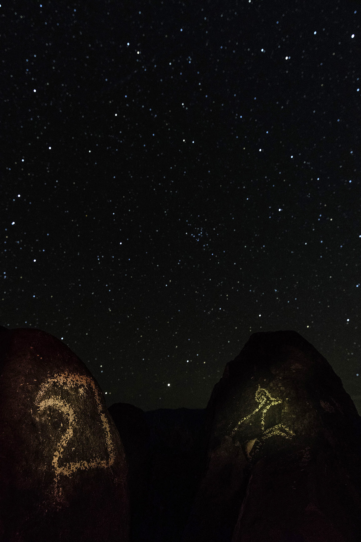 Stars Over Three Rivers Petroglyphs in New Mexico