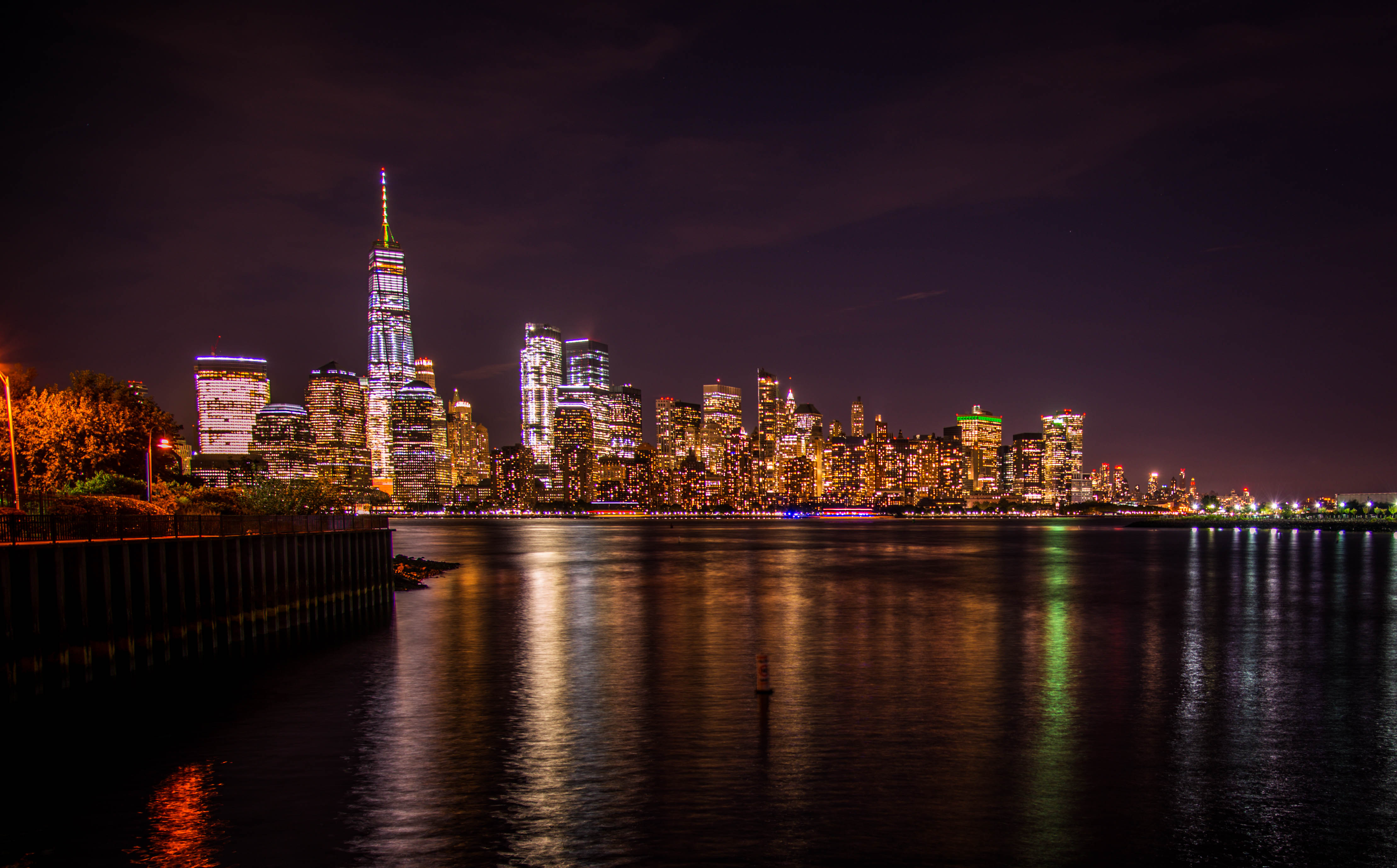 New York from across the Hudson.
