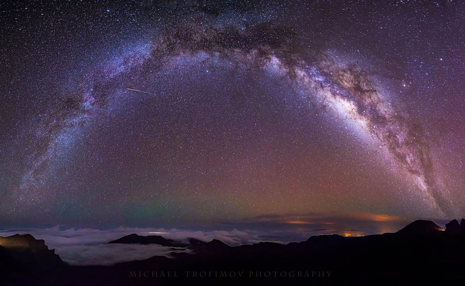 Galactic Rainbow in Hawaii
