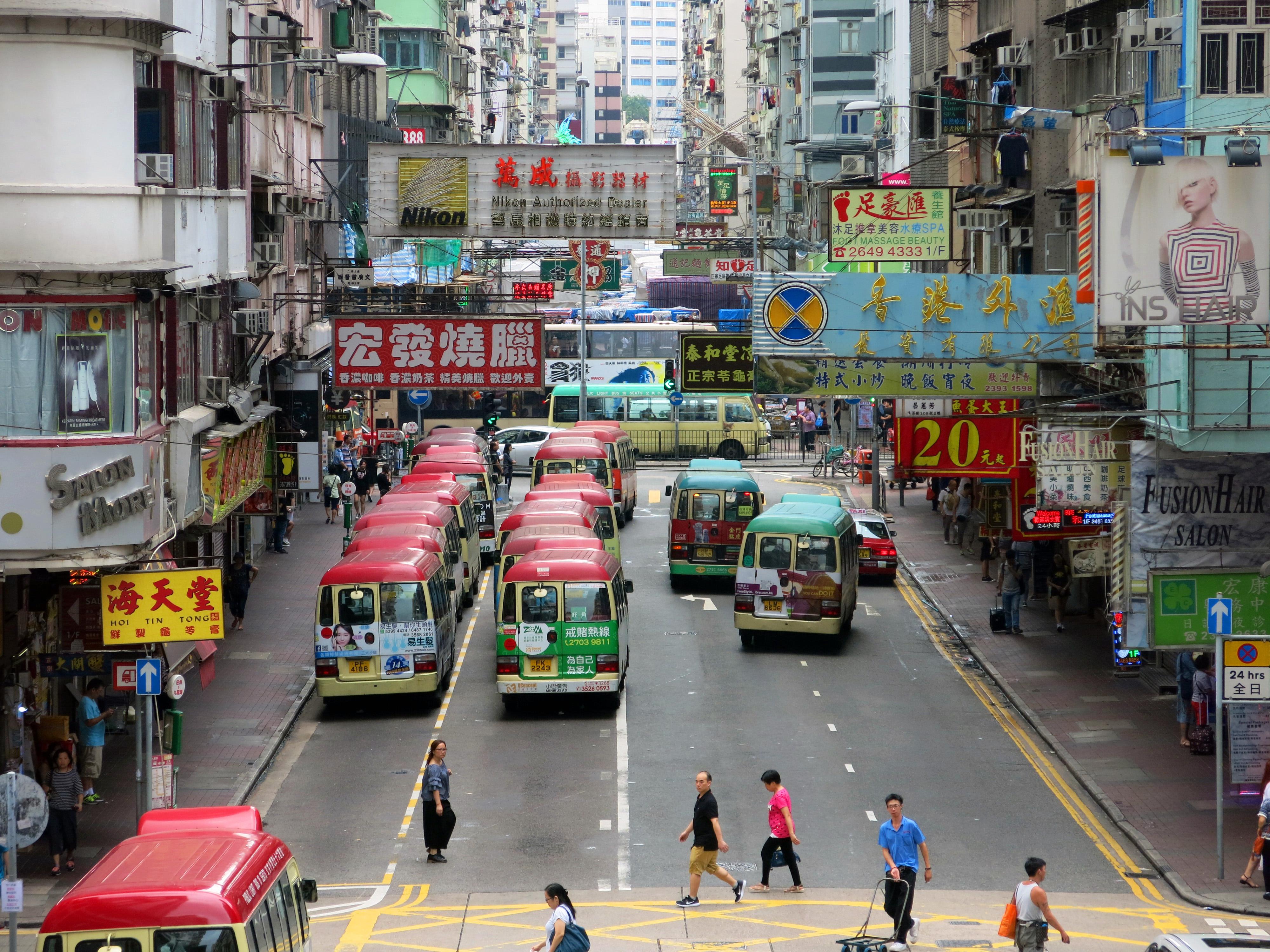 Hong Kong Mini Bus Lane