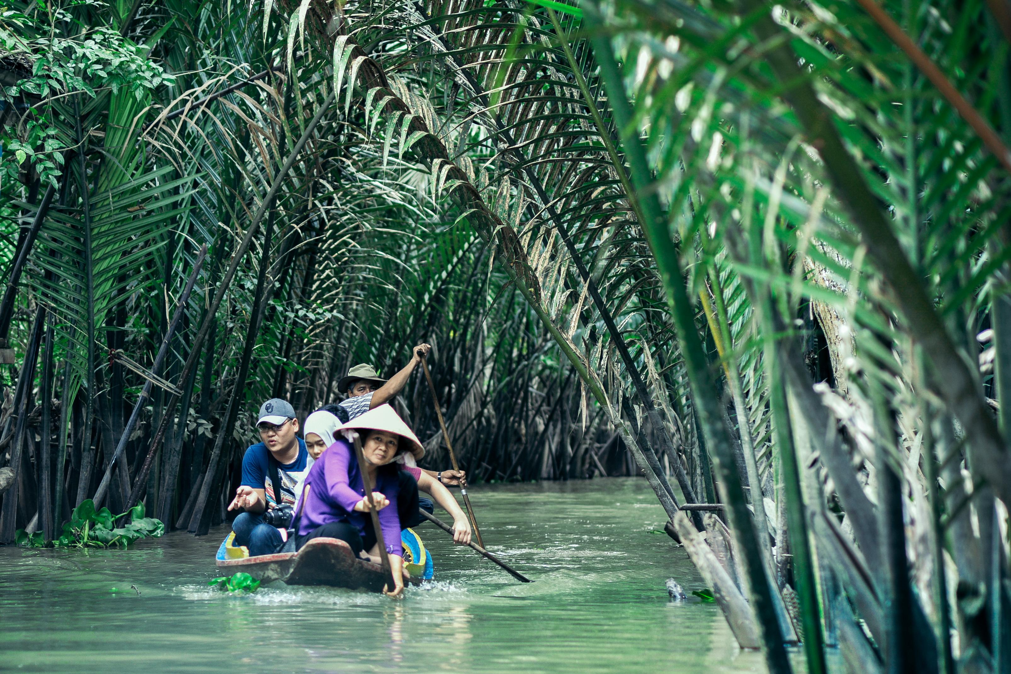 Sampan Ride in Mekong