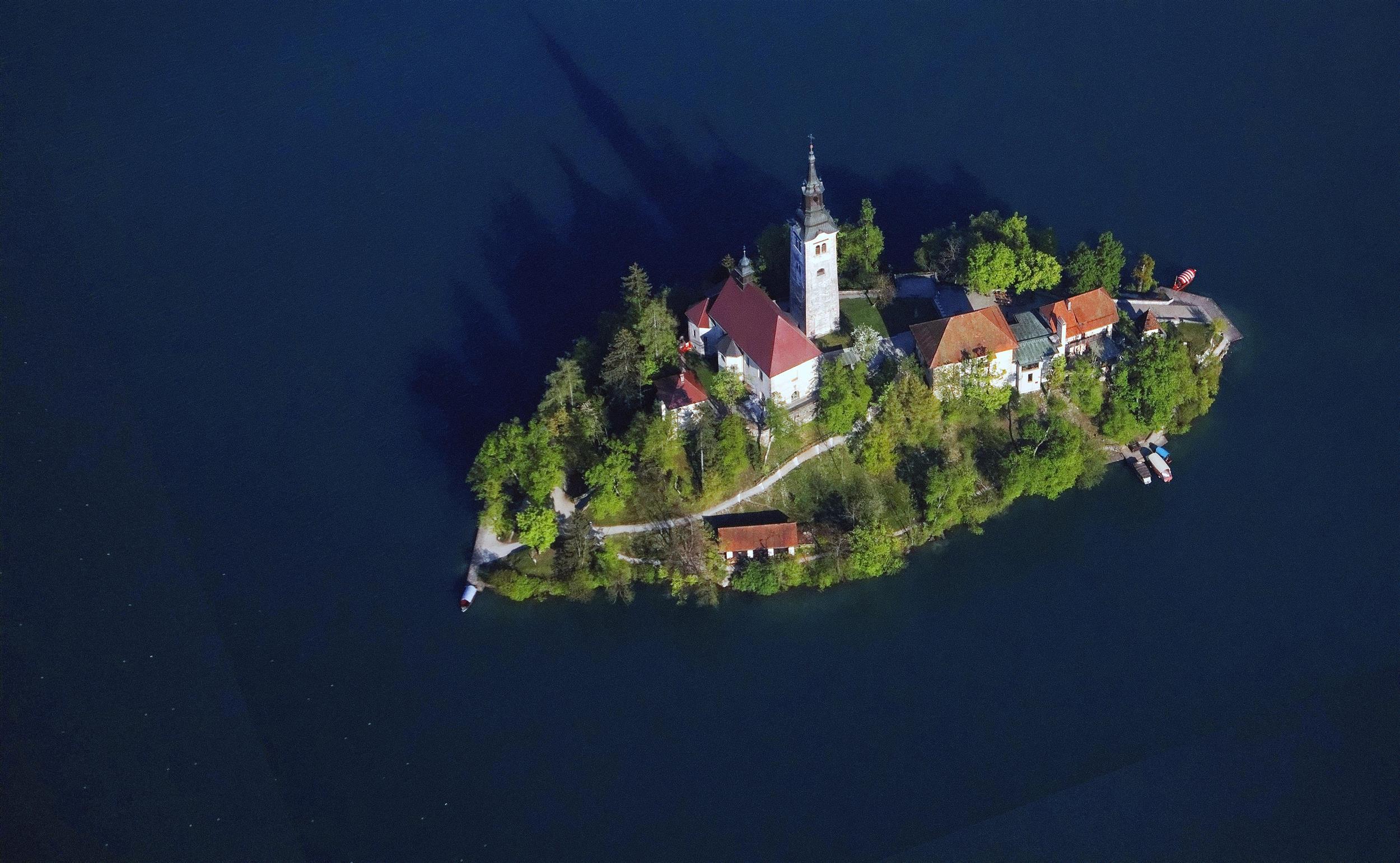 Island on the Lake, Slovenia