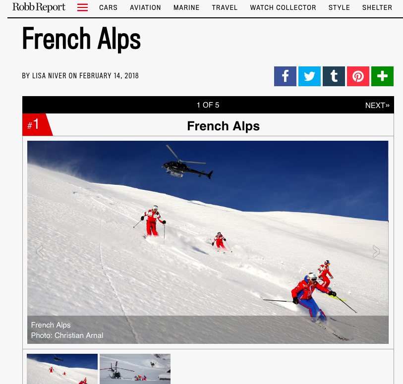 Robb Report: Are You Ready For Your First Heli-Ski Adventure? French Alps