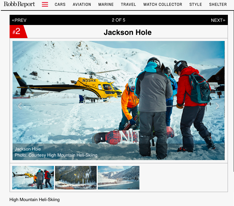 Robb Report: Are You Ready For Your First Heli-Ski Adventure? Jackson Hole