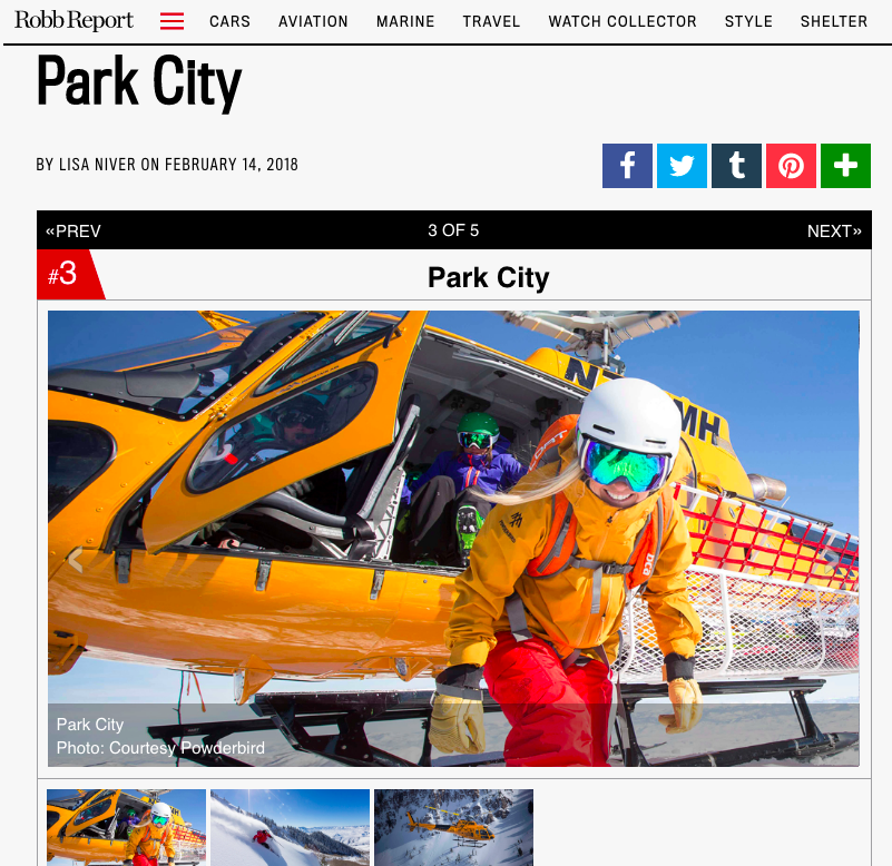Robb Report: Are You Ready For Your First Heli-Ski Adventure? Park City