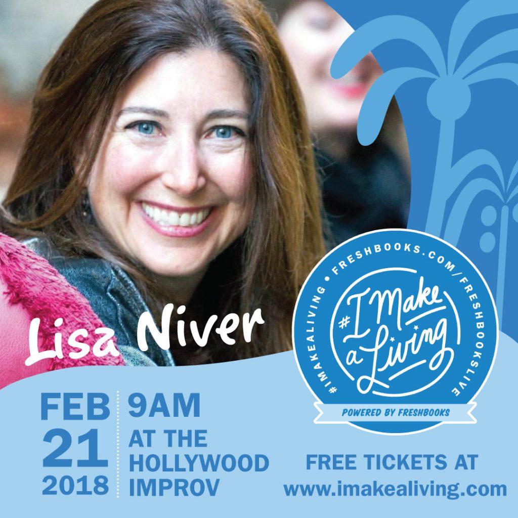 Lisa Niver on Feb 21 at the Hollywood Improv IMakeALiving
