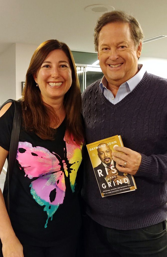 Lisa Niver with KTLA TV Sam Rubin