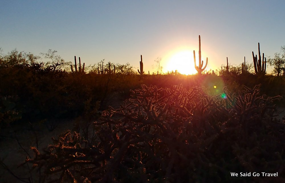 Sunset at Tanque Verde Dude Ranch