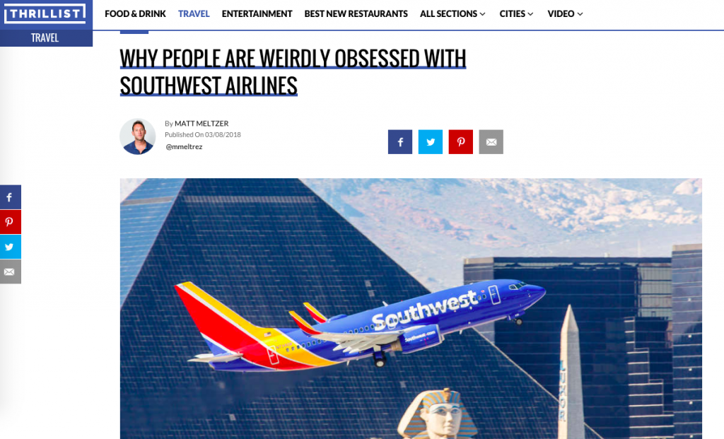Are You Weirdly Obsessed with Southwest Airlines?